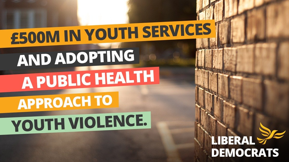 By investing £500m a year in youth services & taking a public health approach to youth violence, a LibDem government will build a #BrighterFuture for young people with the support & opportunities they deserve. Check out our plan 👇 libdems.org.uk/plan