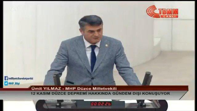 Ümit YILMAZ: Devletimiz özellikle İstanbul'da yaşanacak bir depreme dünden hazırlanmış olmalıdır. Can kayıplarının en aza indirgenmesi için binalar tek tek incelenmeli, yıkılması muhtemel binalarda inisiyatif vatandaşlara bırakılmamalıdır. Kentsel dönüşüm hızlandırılmalıdır.