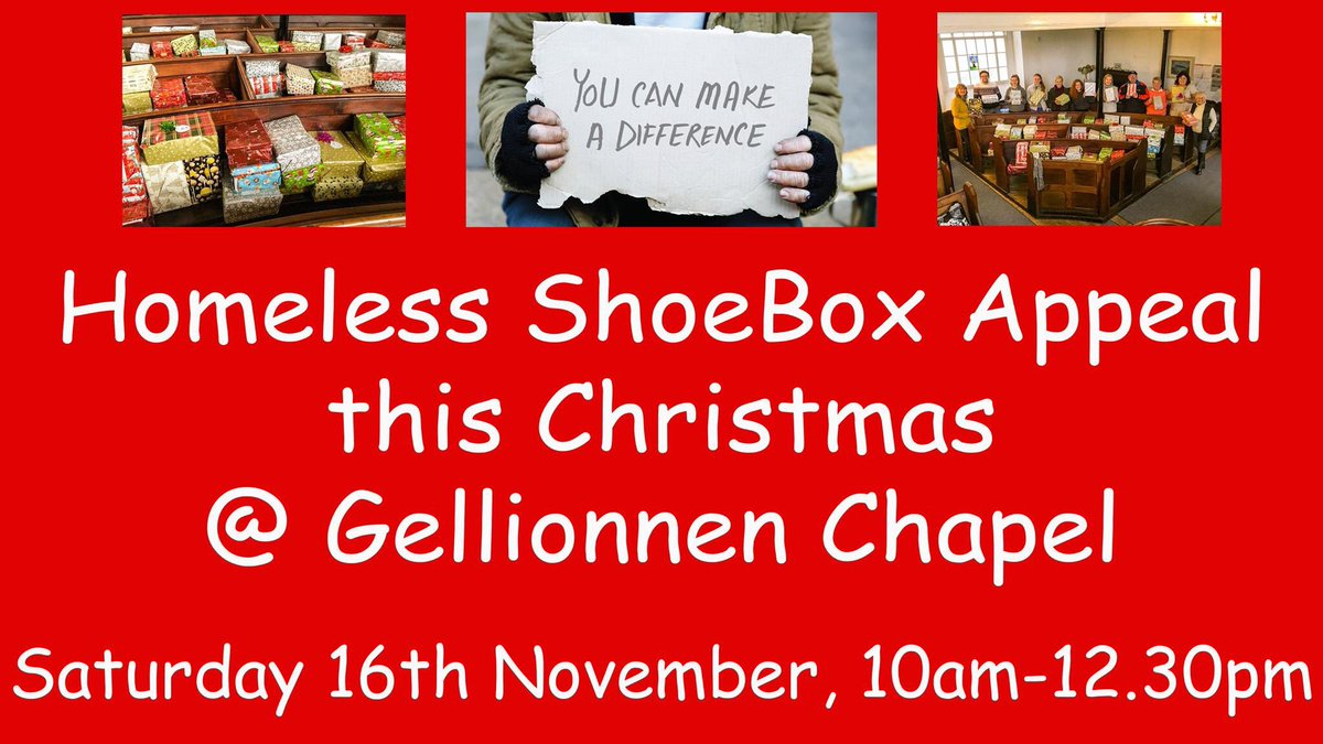 Gellionnen Chapel On Twitter Homeless Shoe Box Appeal