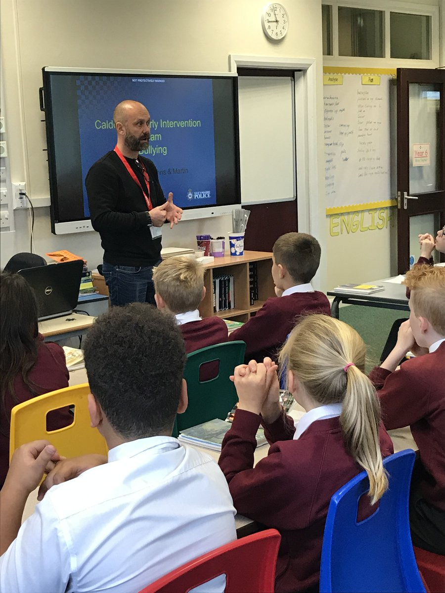 Year 6 took part in an anti-bullying workshop today with PC Martin from the local police force.