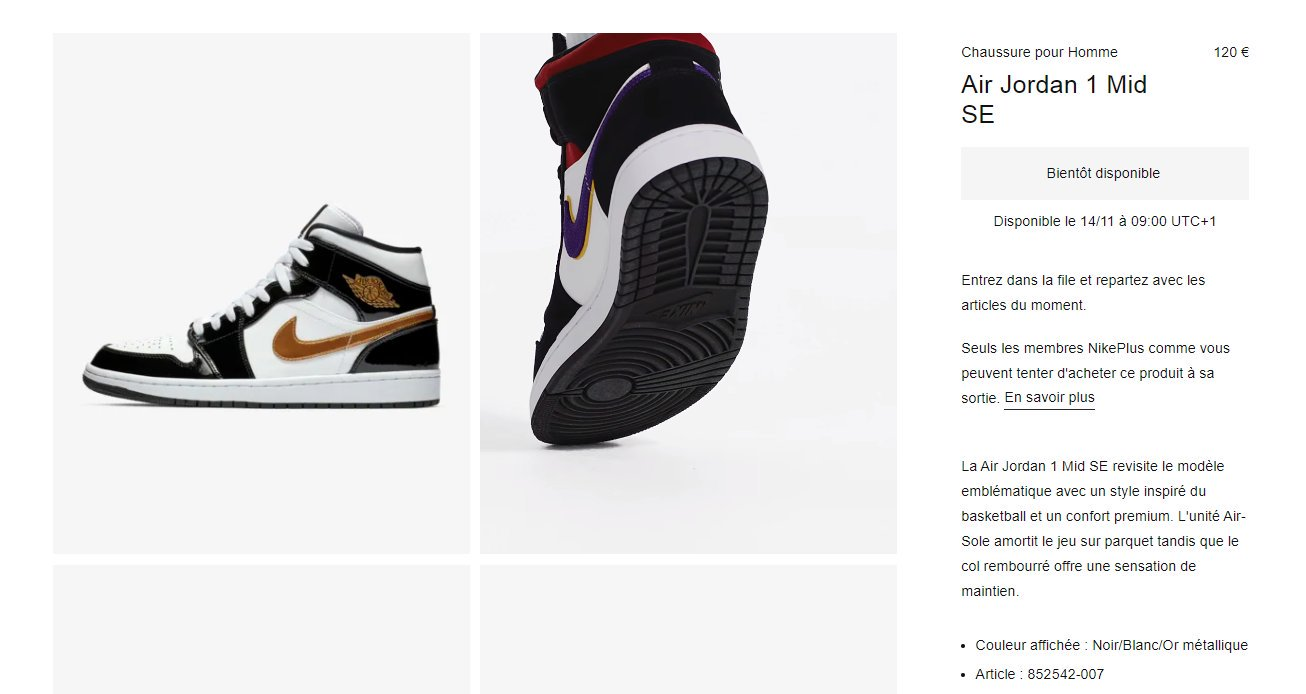 "Affiche Noir Et Blanc Avec Couleur moresneakers on twitter: ""eu only : tomorrow 9am cet on"