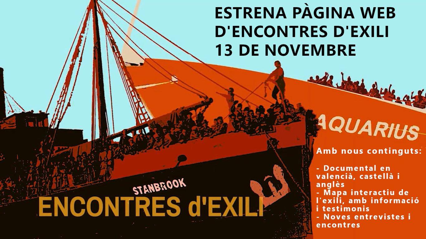 El projecte Encontres d'exili estrena nova pàgina web