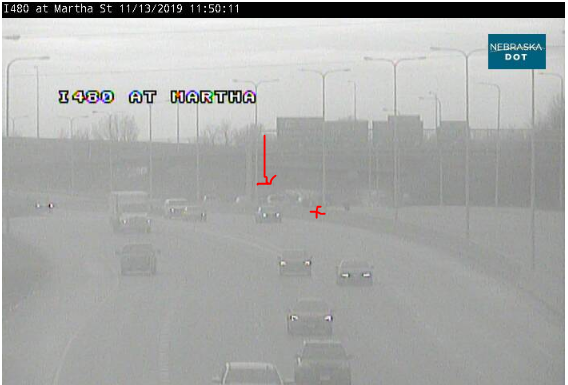 Image posted in Tweet made by Omaha Hwy Conditions on November 13, 2019, 5:54 pm UTC