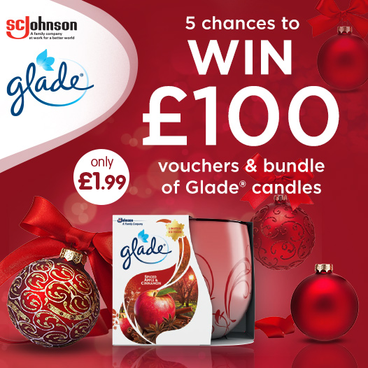 """#COMPETITION TIME - ENDS FRIDAY  We've teamed up with @Glade to giveaway FIVE chances to #WIN £100 worth of B&M vouchers PLUS a Glade candle bundle!  For your chance to #WIN, simply FOLLOW, RT & COMMENT """"WHAT"""" you'd spend your vouchers on!  Competition ends 9am 15/11/19 <br>http://pic.twitter.com/hS3RzPlhnI"""