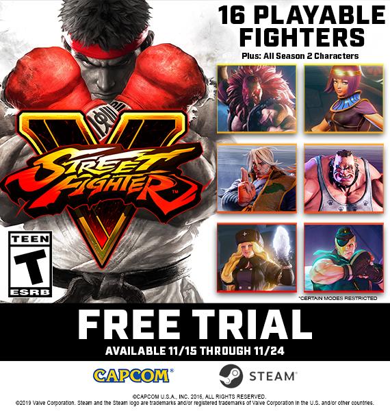 Street Fighter V nabídne Steam trial