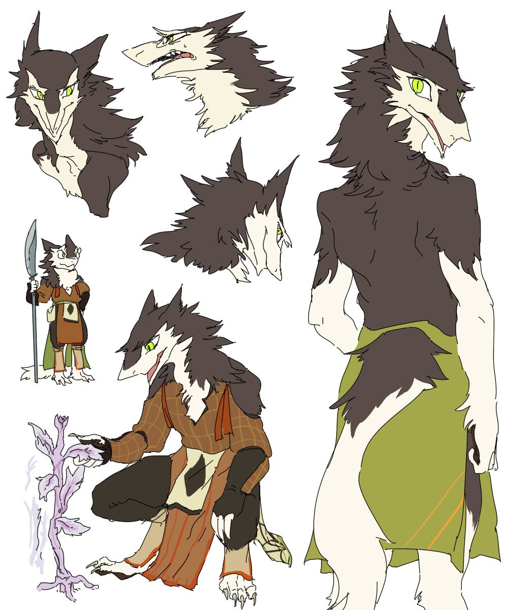 Doodle Commission #3  Ceryl the Sergal! These sketches feature anatomy that is canonical accurate to the Sergal species and environmental items based on what is within the realm of the Vilous Universe.  Give me Fav🌟and Read more📖on http://furaffinity.net/view/33816650/  #Vilous #Sergal