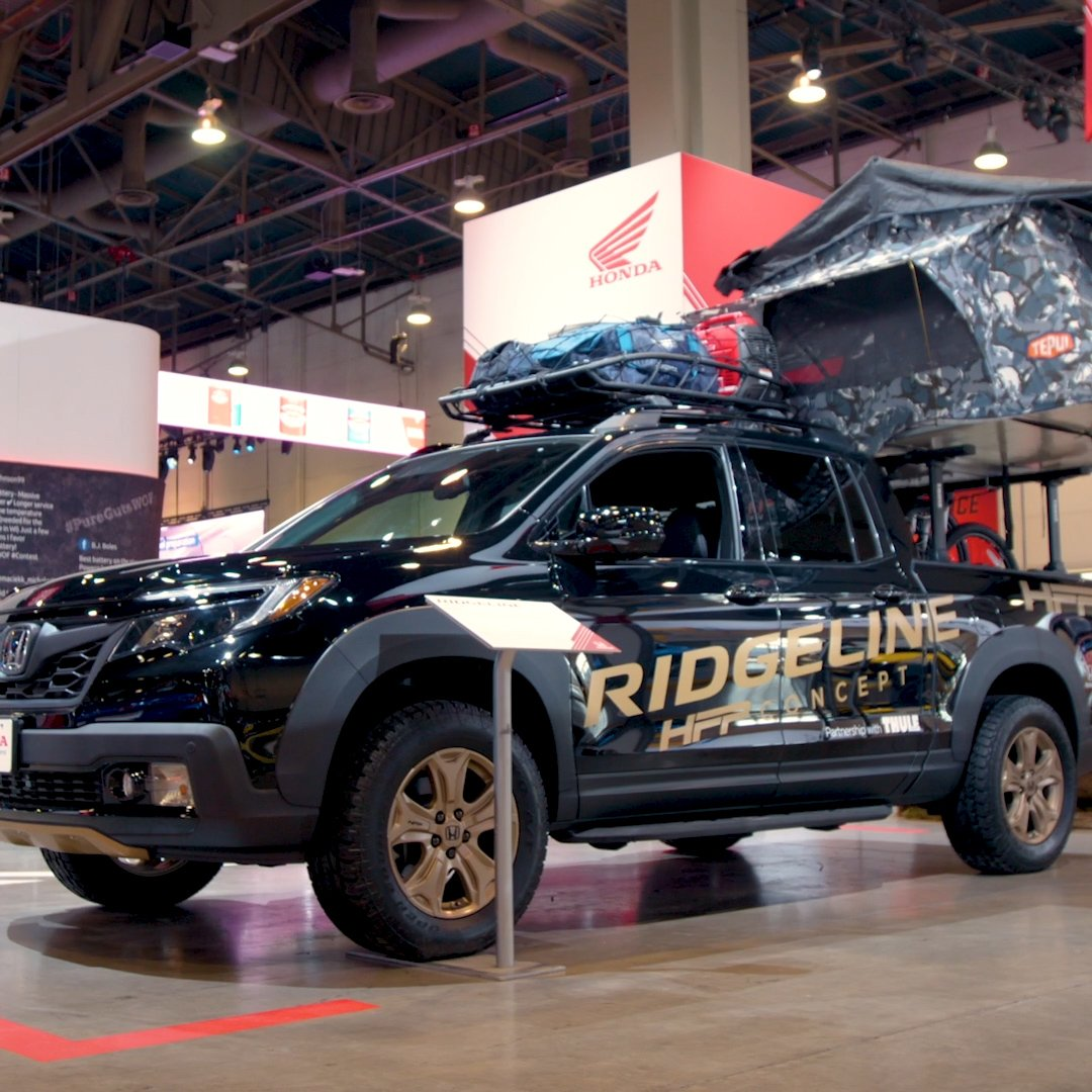 Weekend warriors: Check out these 2020 accessorized #HondaCRVs and the Honda Factory Performance Ridgeline Concept from #SEMA2019.