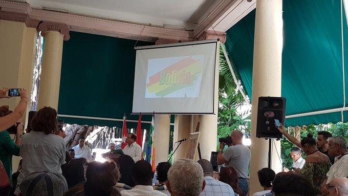 Cuba ratifies solidarity with Evo Morales