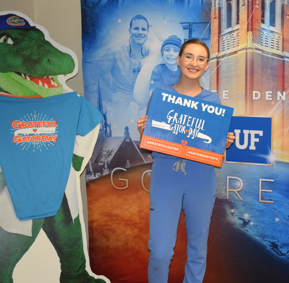 """""""Thank you for your dedication to the #GatorNation! You are the reason we are able to continue the great work we do at @UF. I am so grateful to be furthering my education at #UFCD, and I can't thank you enough for your continued support.""""  Micaela C., #GratefulGator 