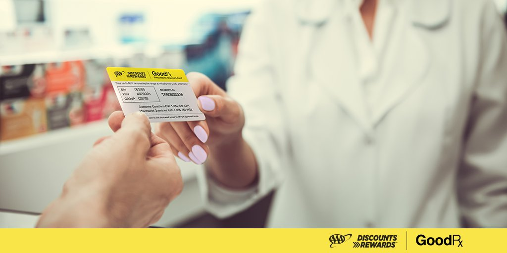 Download your FREE discount card or coupons from @GoodRx and save more at the pharmacy! Visit  #AAADiscounts #GoodRx #AAA