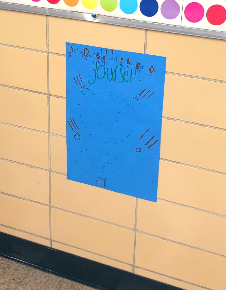 Thank you 4th graders for all the kindness you have shared around the building.