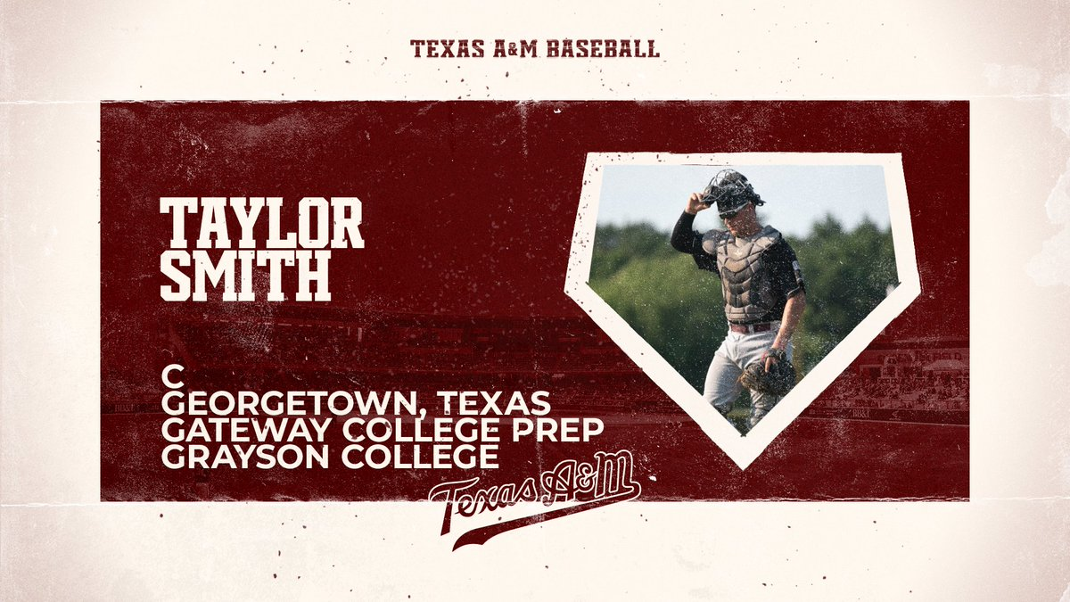 """Welcome to Aggieland!  """"Taylor can hit. He has power. He can throw. He can receive. There is not much Taylor can't do on a baseball field."""" - @CoachSeely   #GigEm 