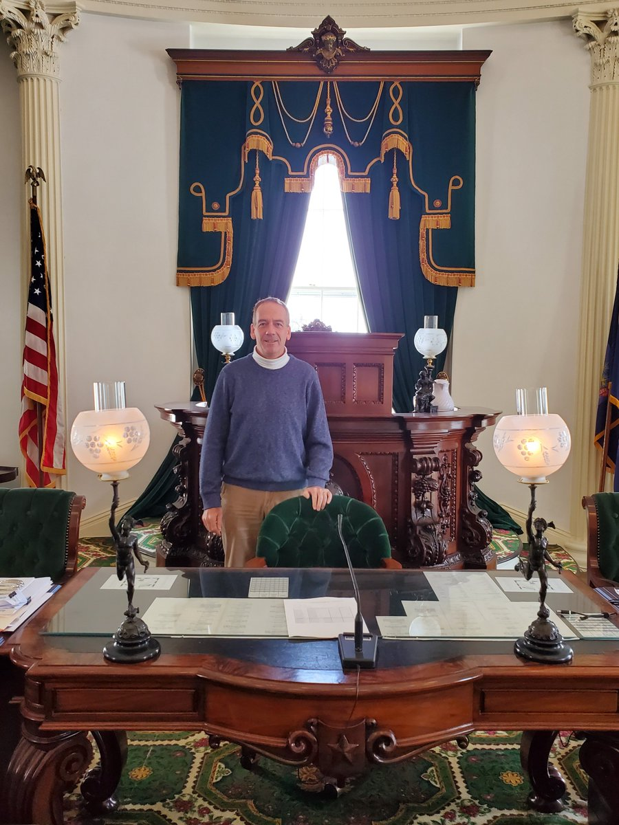 Had a great opportunity to visit the Vermont Capitol in Montpelier and see the House and Senate chambers.