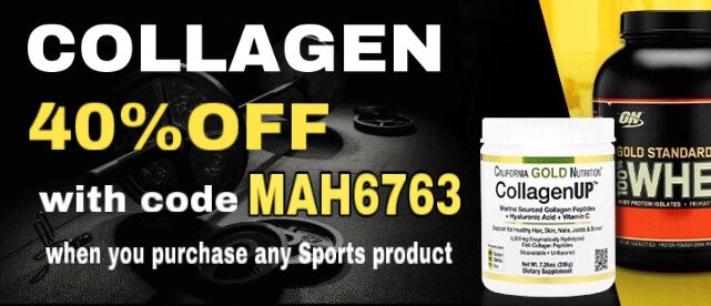 40%OFF #SPORT #NUTRITION  with code MAH6763   Limited time only    https://www. iherb.com/c/Sports-Nutri tion?rcode=MAH6763  …   #iherb #iherbcode #omega3 #musclepharm #muscletech #optimumnutrition #allmax #creatine #optiwomen #wheyprotein #EVLutionNutrition #supplemens #vitaminD3 #Collagen #CollagenUP   #BCAA<br>http://pic.twitter.com/64jrEtge6w