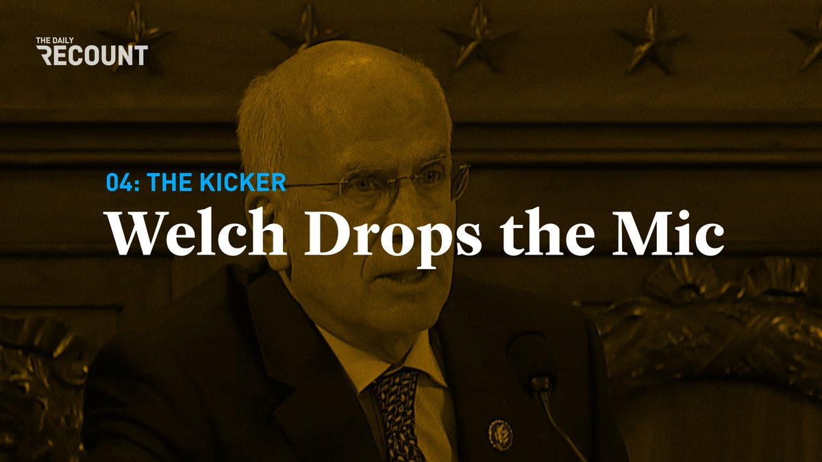 Somebody call the fire department — Rep. Welch set the hearing room aflame with this comeback.