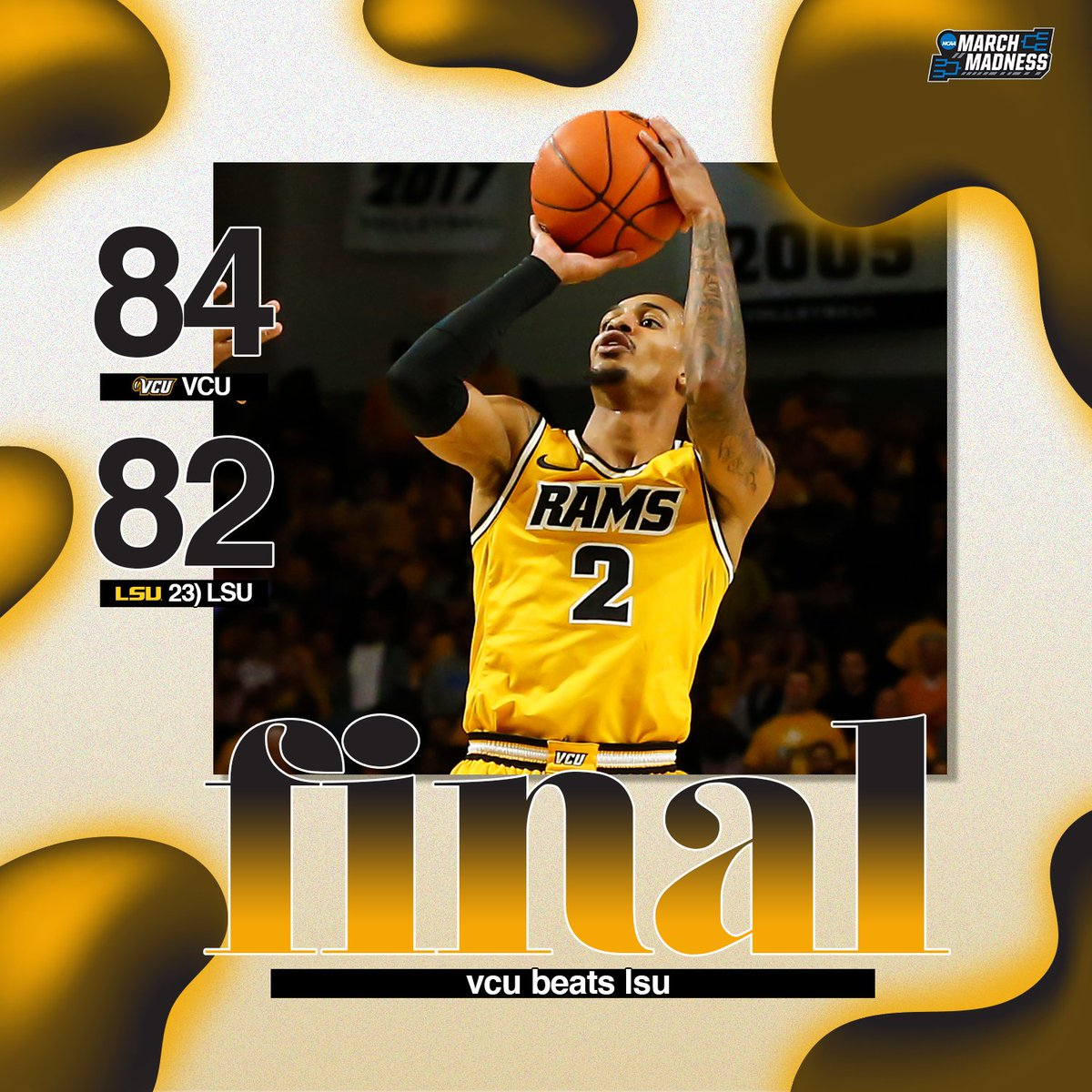 HAVOC. CITY!  VCU spoils Will Wade's return to the Siegel Center with the win over No. 23 LSU! #LetsGoVCU<br>http://pic.twitter.com/jdE0zykNpz