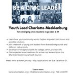 Image for the Tweet beginning: Calling all emerging civic leaders