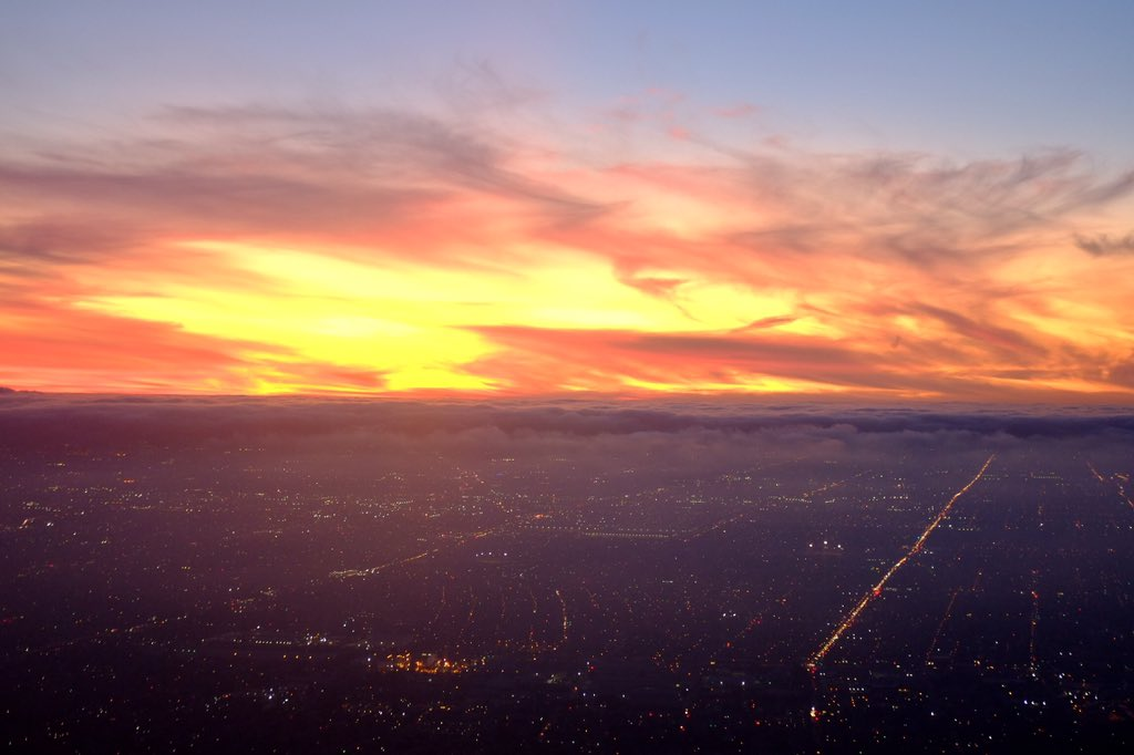 #Sunset - Marine Layer moving in. @KNX1070