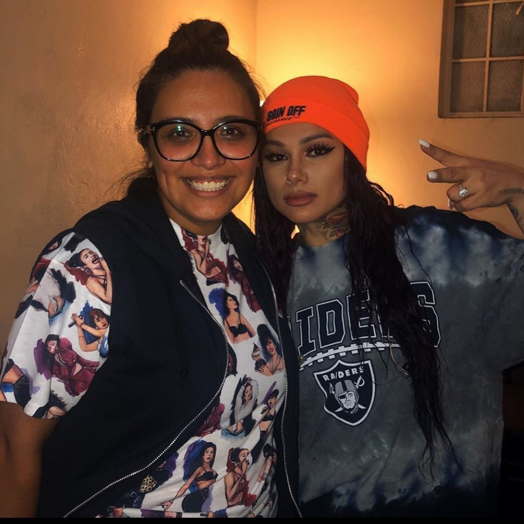 Yo!!! @SnowThaProduct & @cristela9  in a pic together makes my corazòn so dang happy! Hoping these two create something amazing one day! Note, repping the only queen #Selena and the #RaiderNation all in one pic? Did #Jesus bring this all together just brighten my day!? #itworked