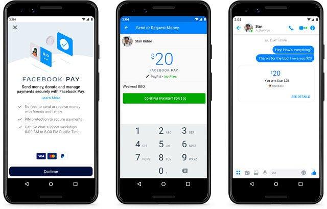 Facebook Payが米国で提供開始。決済や個人間送金が可能 〜InstagramやWhatsApp連携も計画。仮想通貨リブラとは無関係