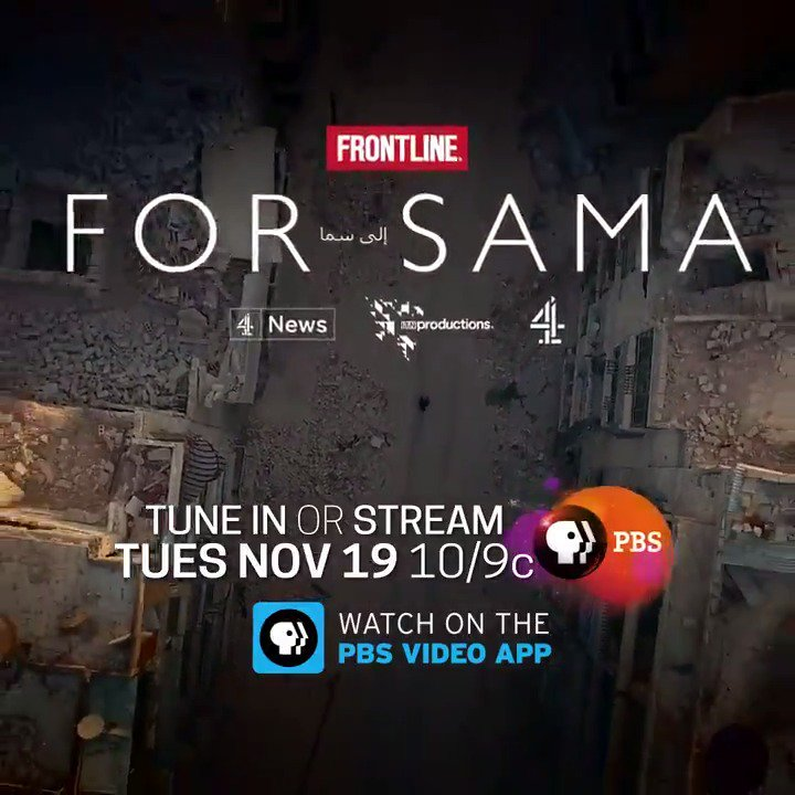 """In a time of conflict and darkness in her home in Aleppo, Syria, one young woman kept her camera rolling — while falling in love, getting married, having a daughter and saying goodbye as her city crumbled.  Tune in or stream """"For Sama"""" starting TONIGHT."""