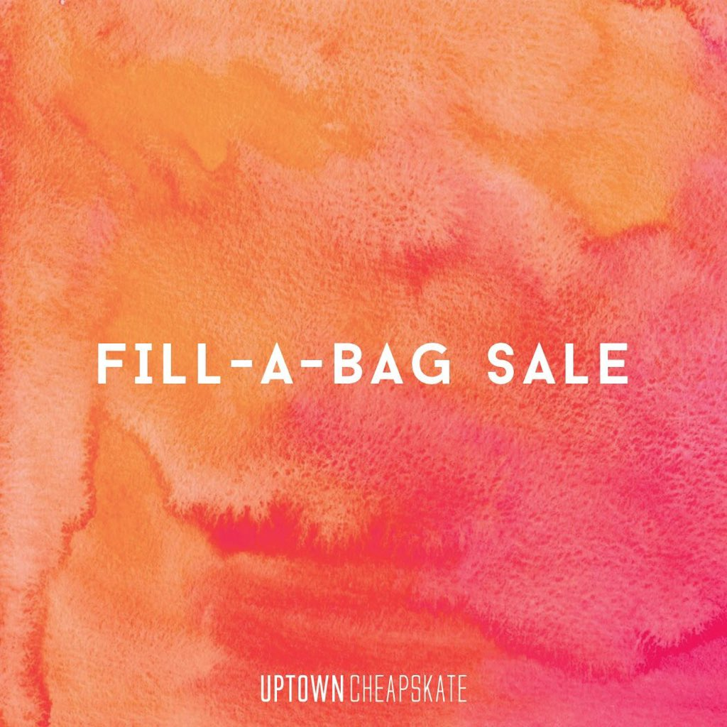 Our annual Fill-A-Bag event will be held on this Saturday November 16th. At the West Side Location Only.   Purchase an Uptown tote for $25 or a smaller plastic bag for $15 stuff it FULL of specially marked items outside the store.   <br>http://pic.twitter.com/ZLmp6V4uXC