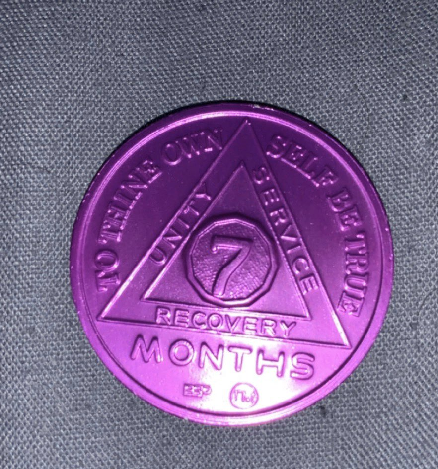 Received my 7 month chip today. Sobriety is a gift 💜 #ODAAT