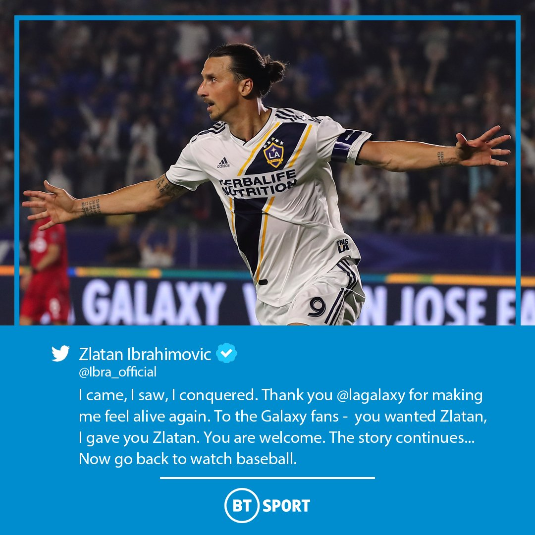 Now go back to watch baseball... Even for Zlatan, this goodbye to the LA Galaxy fans is something else 👀