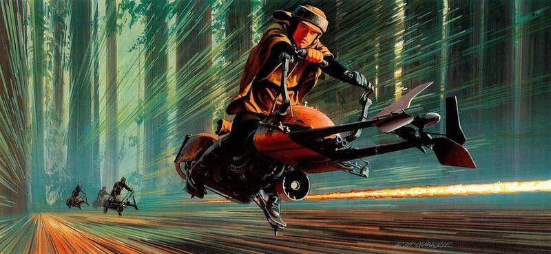 Return of the Jedi concept art by Ralph McQuarrie <br>http://pic.twitter.com/iXuXNyPmp2