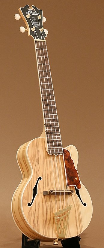 crews guitars d'angelico tenor long neck ukulele
