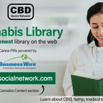 Image for the Tweet beginning: Visit our #Cannabis Library w/