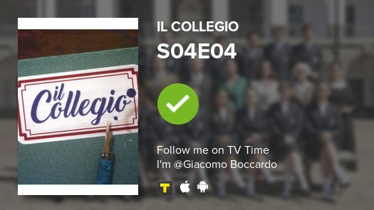 test Twitter Media - I've just watched episode S04E04 of Il Collegio! #ilcollegio  #tvtime https://t.co/oG6tkoRDds https://t.co/UgT1mu4Vjq