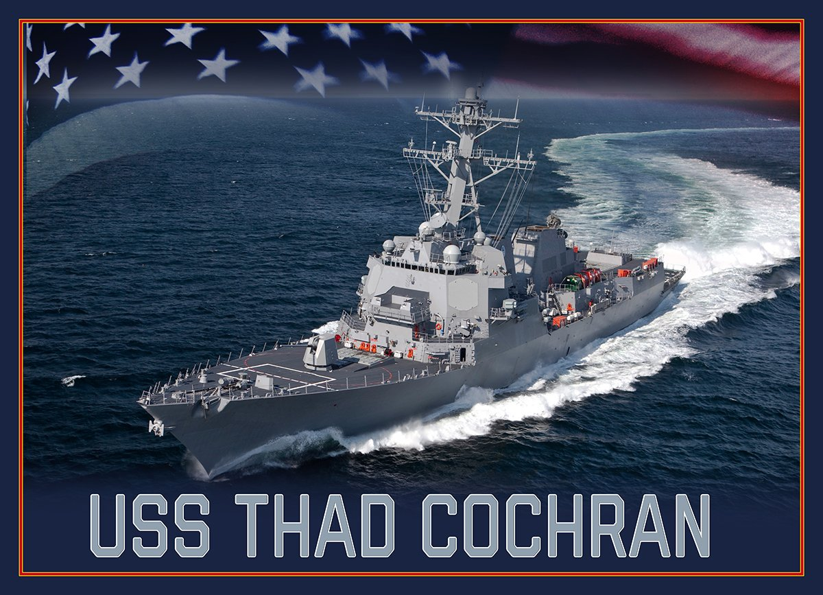 It is my pleasure to announce that a future Arleigh Burke-class guided-missile destroyer will be named in honor of U.S. Senator and Navy veteran Thad Cochran. https://t.co/JksmCtP9Gs