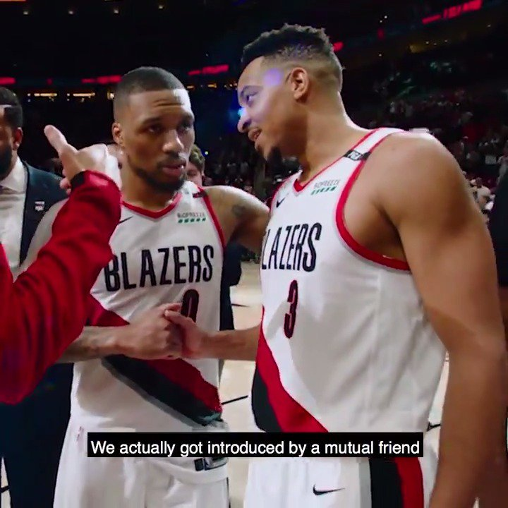 He was just telling me, Youre going to be a lottery pick. ✊ -@CJMcCollum opens up about his relationship with @trailblazers teammate @Dame_Lillard on @KristenLedlow & @Candace_Parkers podcast ➡️ bit.ly/2PAGlbz