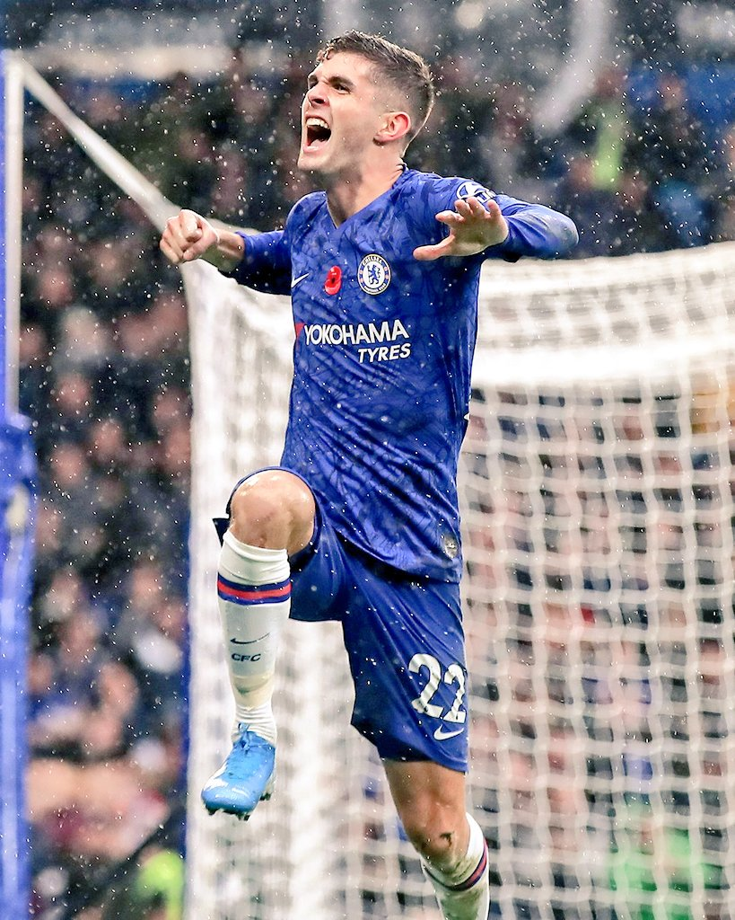 Christian Pulisic EPL Stats:  👤  9 Apps ⚽️  5 Goals (1 Hat-trick) 🅰️  2 Assists 👣 83% Passing Accuracy ⭐  5 Big Chance Created 🏅  1 MOTM  Present and Future Star  CHRISTIAN PULISIC !!! ✨