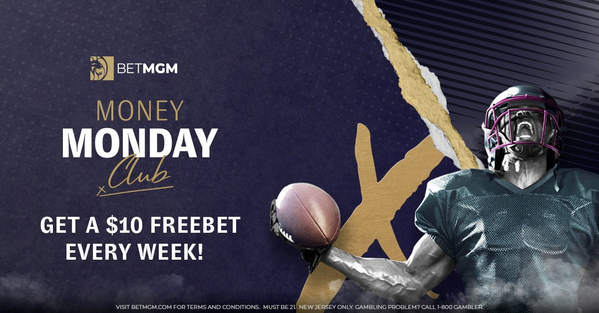 We appreciate your loyalty and would like to thank you with a FreeBet every Monday!  Join Money Monday Club and receive a $10 FreeBet when you place a total of $50 in wagers during the previous week (Monday-Sunday).  💰 Opt-in and be a member for life 💰  Believe in your Mondays!