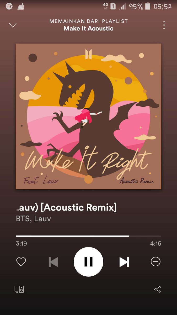 #MakeitRightAcoustic for this thursday morning 😊💜  @BTS_twt  #ARMYStreamingParty   ()