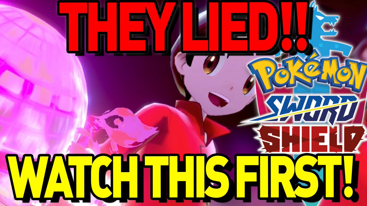 THEY LIED TO YOU! #PokemonSwordShield  There has been a ton of FAKE NEWS about Pokemon Sword and Shield.  If there is one video you watch, make it this one.  https://www. youtube.com/watch?v=a7MZFp Qg5q4  …   RT This to Spread the Word. Fans need to know!<br>http://pic.twitter.com/MK9TqlGyRs