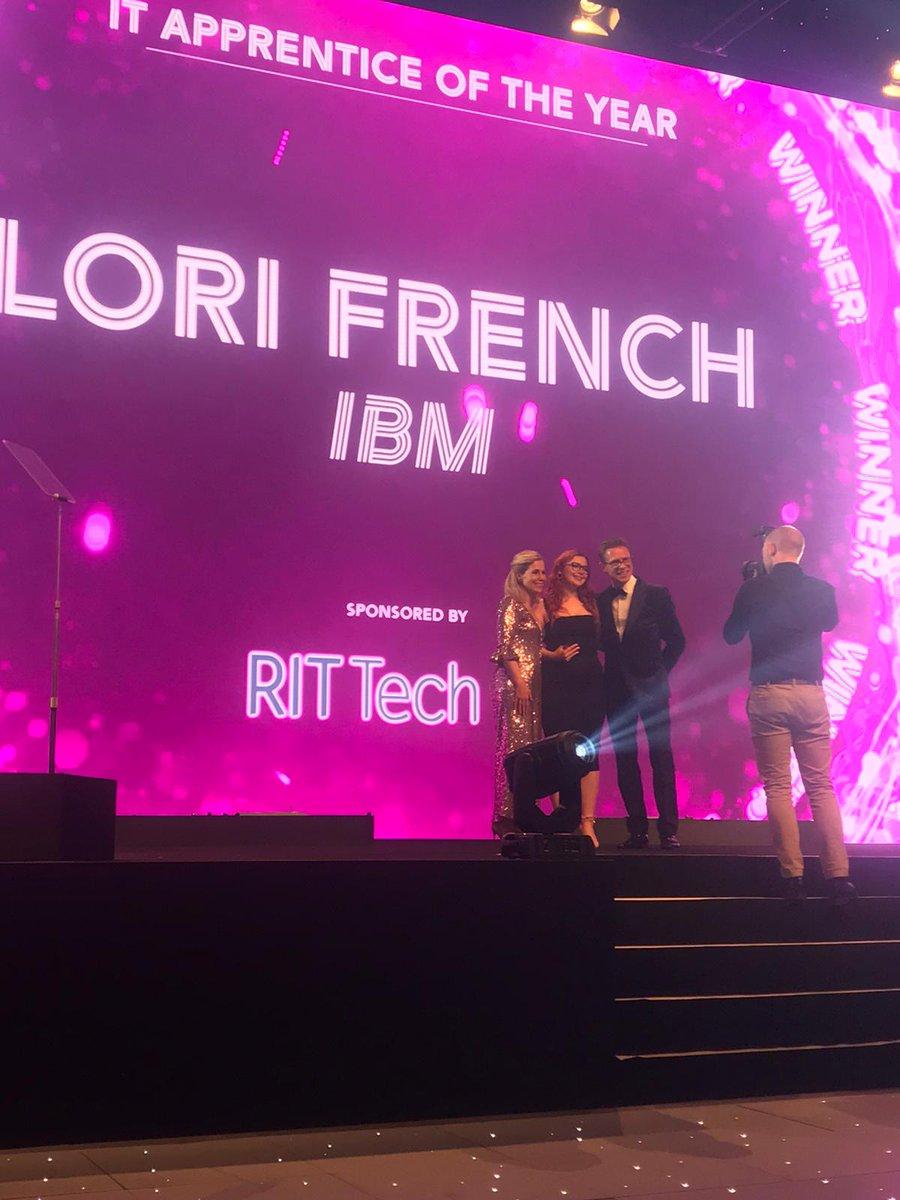 Congrats to Lori French @IBM for winning IT Apprentice of the Year #UKITAwards #AwesomeAchievement #WomenInTech #FutureTechLeader #Apprenticeships #Winner @BCS @JennyTaylor369