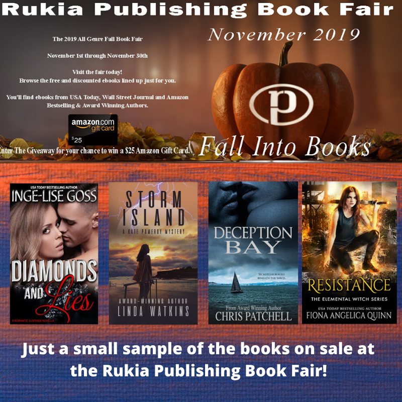 Welcome to the 2019 All Genre Fall Book Fair from Rukia Publishing! Nov 1st- Nov 30th Visit the fair today! Browse the free & discounted ebooks lined up just for you.  https:// rukiapublishing.com/fall-book-fair .html  …  #FreeBooks #GiveawayAlert #ASMSG<br>http://pic.twitter.com/CNhaUfYpIJ