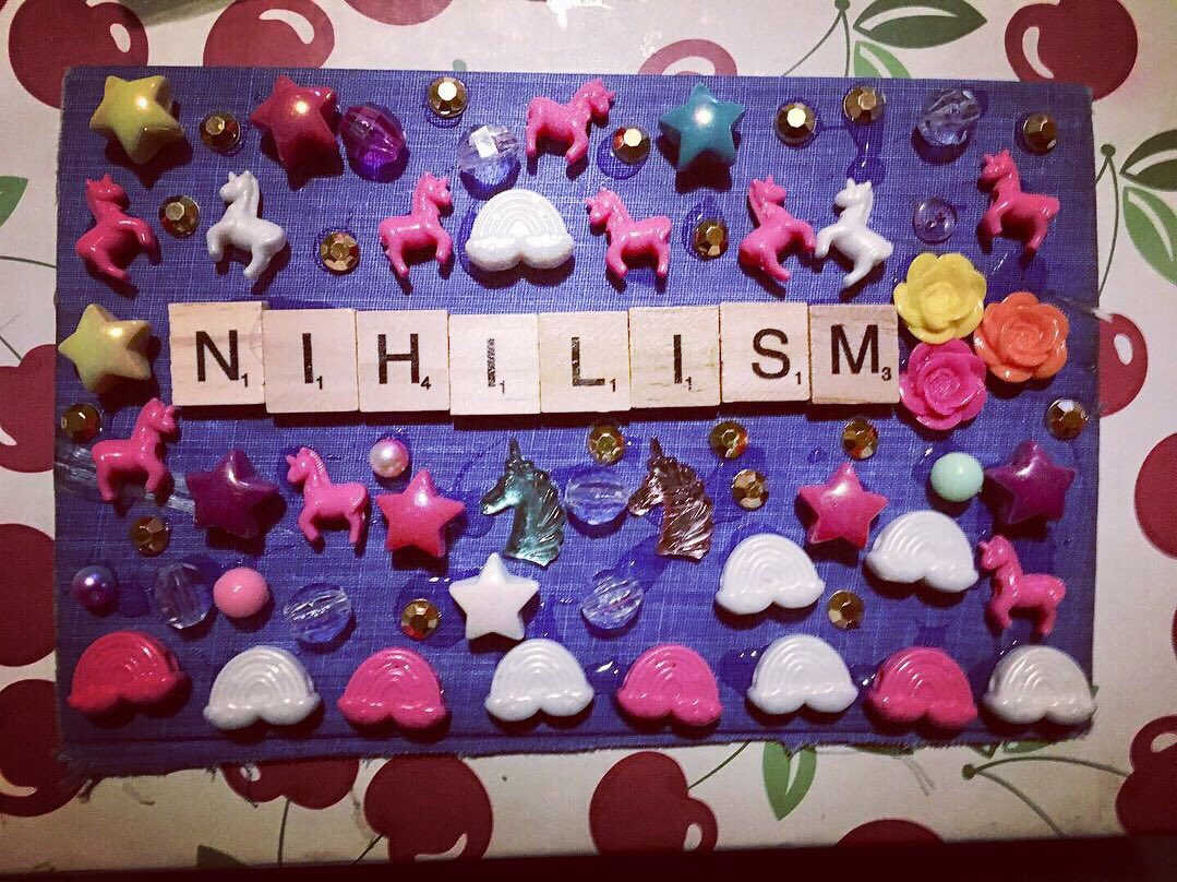 #CollageArt inspired by #nihilisticlisafrank & #rancid  #nihilism #lisafrank #glitter #unicorns #rainbows # # #mixedmedia<br>http://pic.twitter.com/OPv7LNedU4