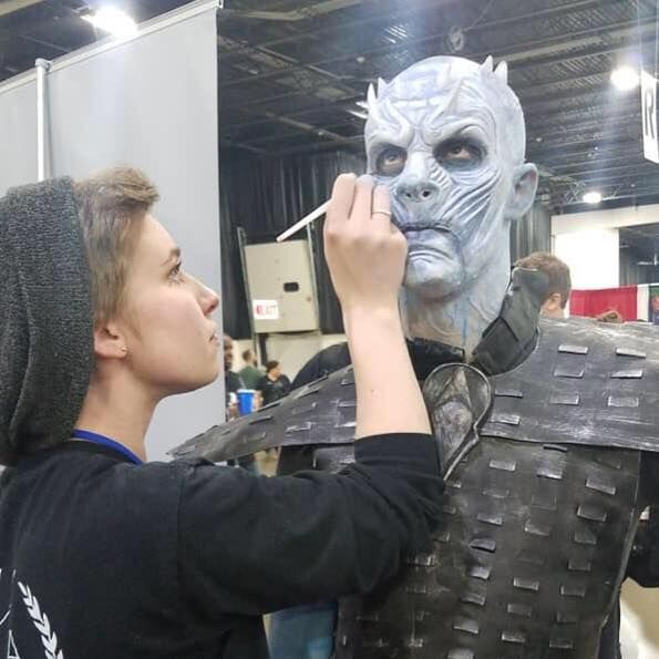Here is the final look of the Night King for Kelsey's Motor City Comic-Con! It turned out sooooooo good! . . . #mma #mmatroy #mmamua #makeupartist #mua #nightking #motorcitycomiccon #gameofthrones #project #funny #dedicated #creative<br>http://pic.twitter.com/IqkuWBMQzV