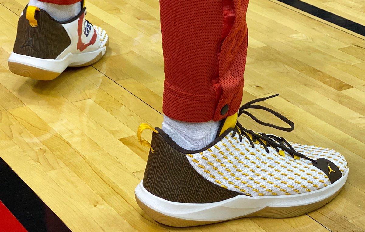 PJ Tucker in a Jordan CP3.XII PE at home!   #NBAKicks #OneMission