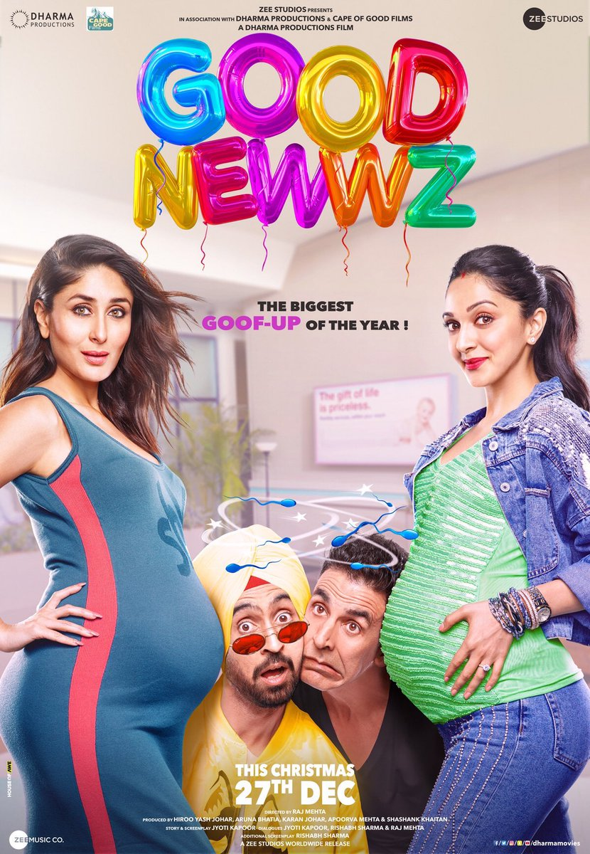 Good Newwz (2019) Hindi WEB-HD 1080p 720p 480p x264 DD5.1 ESubs | Full Movie
