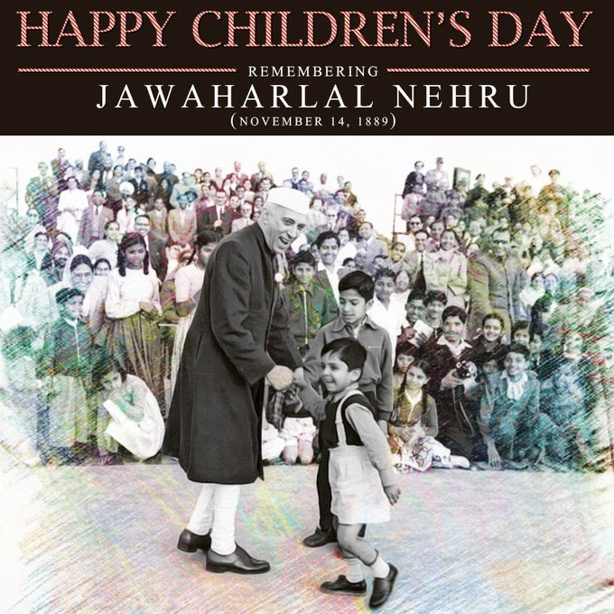 Remembering Pandit #JawaharlalNehru on his 130th birth anniversary. His immense contribution to the freedom struggle and the development of independent India can never be forgotten. 🙏🏽#ChildrensDay2019