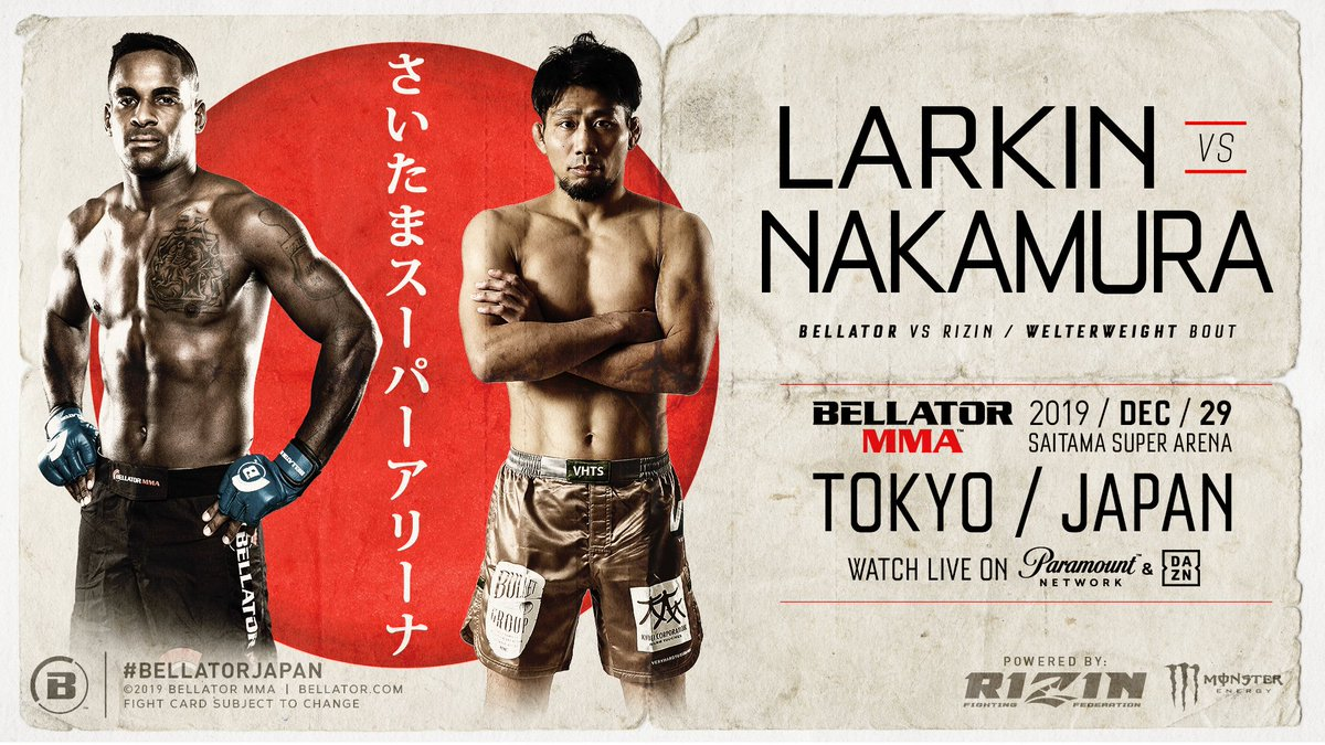 🚨🚨FIGHT NEWS & A HAPPY NEW YEAR! 🚨🚨  Check out who we've added to this exciting card for #BellatorJapan! https://t.co/qUKtXlkNNO