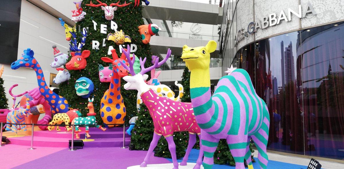 test ツイッターメディア - タイのクリスマスツリー。カラフルなアニマルズかわいい@バンコク、プロンポン https://t.co/BJdjIuxmzs