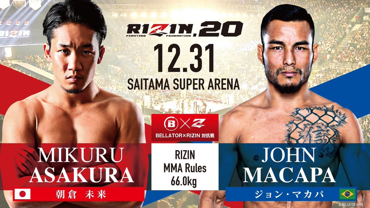 RT @ScottCoker: These two bouts take place inside the @rizin_PR ring. https://t.co/gmGSSlQvNN