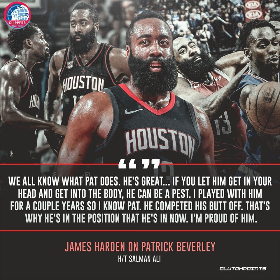 James Harden is happy to see Patrick Beverley enjoying a successful career. 🤜🤛  #OneMission #Rockets