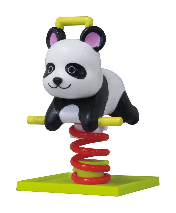懐かしい……!誰もが一度は遊んだ「公園のゆらゆら遊具」がカプセルトイで登場 パンダ、うさぎなど全6種 @itm_nlab